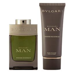 Bvlgari Man Wood Essence Geschenkset EDP 100 ml + 100 ml Aftershave Balm + Pouch
