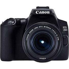 Canon EOS 250D schwarz + EF-S 18-55 mm F4,0-5,6 IS STM