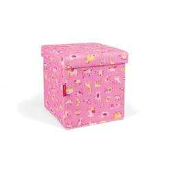 REISENTHEL® Aufbewahrungsbox sitbox Hocker ABC Friends Pink 27 L