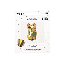 Folienballon, Winkekatze, Gold