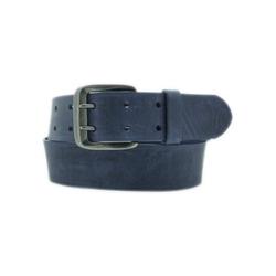 AnnaMatoni Ledergürtel Mit Doppeldorn-Schließe im Vintage-Look blau 90