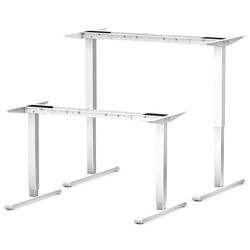 bümö Schreibtisch OM-ASF300, Schreibtischgestell DIY elektrisch höhenverstellbar - Farbe: Weiß weiß