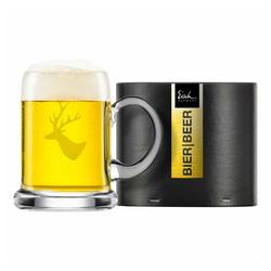 Eisch Bierkrug Seidel Chalet 500 ml, Kristallglas beige