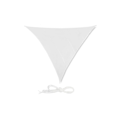 relaxdays Sonnensegel Sonnensegel Dreieck weiß 415 cm x 0.5 cm x 500 cm