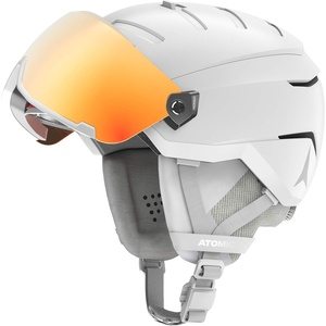 Atomic Savor GT AMID Visor HD Helm, Erwachsene, Unisex, Weiß Heather (Weiß), 55/59 cm