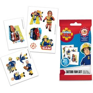 CRAZE Tattoos Fireman Tattoo-Set Klebetattoos für Kinder Feuerwehrmann Sam Kinderschmuck 14196, Kindertattoo