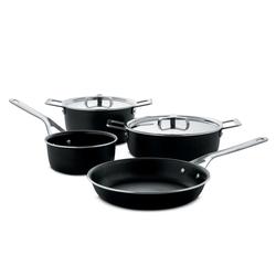 Alessi Topf-Set Alessi Pots&Pans - Topf-Set 6-tlg., schwarz (AJM100S6 A), Edelstahl 18/10