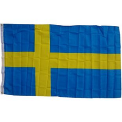 XXL Flagge Schweden 250 x 150 cm Fahne mit 3 Ösen 100g/m² Stoffgewicht