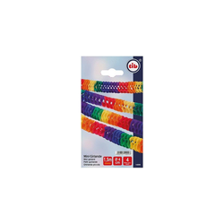 TIB Heyne Mini-Papier-Girlande, L:1,5m, D:4cm, für Tischdeko,4 St.