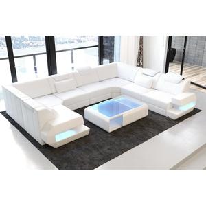 Sofa Dreams Sofa Ragusa, U Form weiß