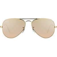 Ray Ban Aviator Flash Lenses RB3025 55mm gold / brown-silver-pink flash