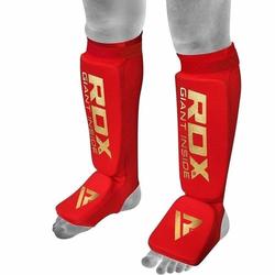 RDX Gepolsterte Schienbeinschützer (Größe: L, Farbe: Rot)