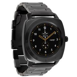 Xlyne Pro Smartwatch X-Watch Nara XW Black Chrome Android IOS dark steel