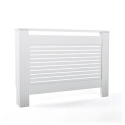 Vicco Verkleidungspaneel Heizkörperverkleidung Landhaus Heizungsverkleidung Weiß Horizontal 112 cm