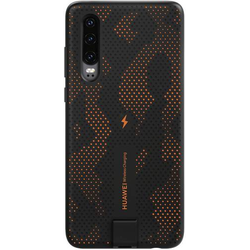 HUAWEI Wireless Charging Case Backcover P30 Schwarz, Orange