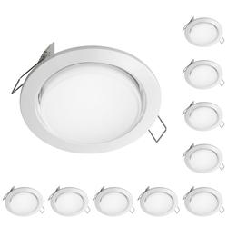 LED Einbauring Zobe slim GX53 weiß rund 4W=28W 280lm warm-weiß 107mm Ø Lochkreis 90mm Ø, 10 Stk.