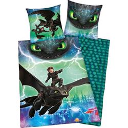 Kinderbettwäsche Dragons Abenteuer, mit Glow in the Dark Effekt
