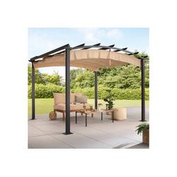 KONIFERA Pavillon Athen, BxT: 300x300 cm, Aluminium, ausziehbarer Sonnenschutz
