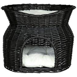 TRIXIE Liegeplatz für Katze Weidenkorb mit Liegedach