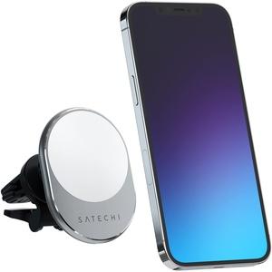 Satechi Magnetisches Kabelloses Autoladegerät – Qi Kabelloses Laden 7,5W Lüftungshalterung – Kompatibel mit iPhone 12 Pro Max/12 Pro/12 Mini/12