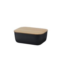 Stelton Butterdose RIG-TIG BOX-IT Butterdose, schwarz, Melamin, Bambus