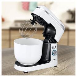 Adexi Küchenmaschine, 600 Watt Küchenmaschine Quirl Knethaken Schneebesen Rührschüssel Melissa 16170017