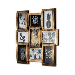 Tawo Bilderrahmen Wand-Bilderrahmen für 9 Fotos 45x3,5x45cm