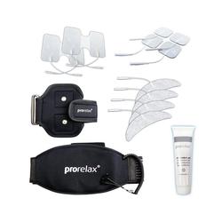 prorelax Elektrodenpads Zubehör Set 351647,bestehend aus verschiedenen Elektroden, 1 Therapie-Gürtel & 1 Therapie-Arm Gurt