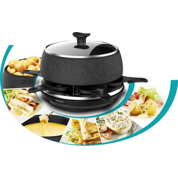 Tefal Raclette RE12C8 Fondue Cheese 'n Co, 6 Raclettepfännchen, 850 W
