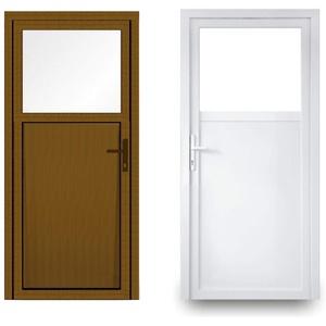 EcoLine Nebentür - Nebeneingangstür - Tür - 2-Fach, 1/3 Glas, 2/3 Füllung, außenöffnend innen: weiß/außen: Golden Oak BxH: 1100 x 2000 mm DIN Links