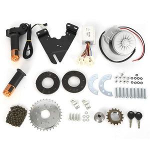 250W 24V Elektrofahrrad Bürstenmotor mit Freilauf, E-Bike Conversion Twist Kit, Umrüstsatz Kit mit LCD Display