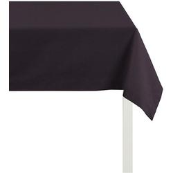 APELT Tischdecke 4362 Rips - UNI (1-tlg) schwarz quadratisch - 100 cm x 100 cm