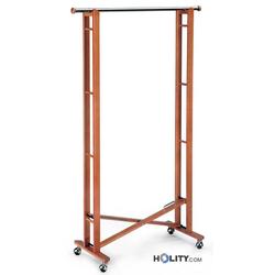 Faltbarer Rollkleiderständer aus Holz h5623