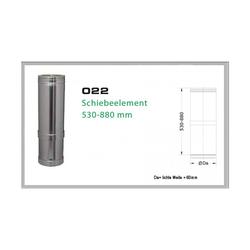 022/DN150 DW6 Schiebeelement 530 mm - 880 mm
