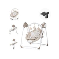 Chipolino Babywippe Babywippe Paradise, Babyschaukel Vibration Musik Spielbogen ab Geburt braun