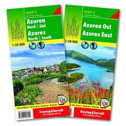 Azoren Wanderkarten-Set 1:50.000 WKP 3