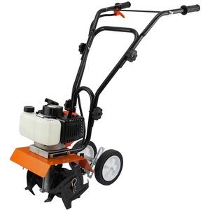 Benzin Gartenhacke Motorhacke Bodenfräse Kultivator Fräse Hacke 2-Takt + Gratis Werkzeugset und Sicherheitsausrüstung