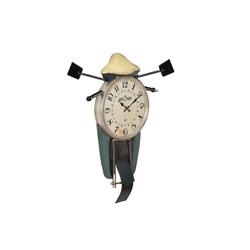 en.casa Wanduhr (Motorrad Design Uhr Metall)