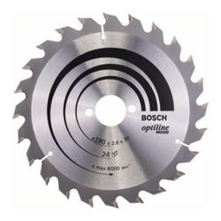 Bosch Kreissägeblatt Optiline Wood für Handkreissägen 190 x 30 x 2,6 mm 24