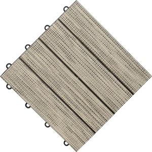 florco® Terrassenplatten Tex, 30x30 cm, 6-St., Klickfliesen beige
