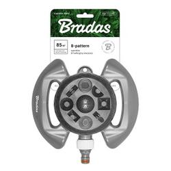 8-Funktionen Rasensprenger Sprinkler Regner Bewässerung Impulsregner Kreisregner WHITE LINE Bradas 5510