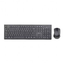 Gembird KBS-WCH-01-DE Funk Tastatur, Maus-Set Deutsch, QWERTZ, Windows® Grau