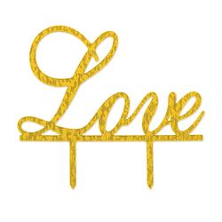 Hochzeitstorten Topper Love Kuchendeckel Hochzeit - gold