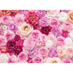 Platzset, Tischset I Platzset - Blumen, romantisch - Pinkes Rosenmeer - 12 Stück aus hochwertigem Papier 44 x 32 cm in Aufbewahrungsmappe, Tischsetmacher, (12-St)