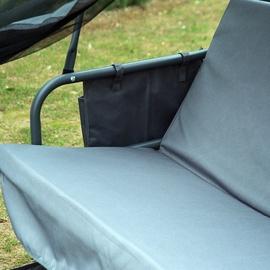 Outsunny Hollywoodschaukel grau 3-Sitzer inkl. Moskitonetz
