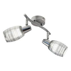 Nori - LED Spot 2-flammig - chromfarbend - Effektglas chrom