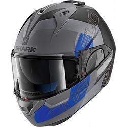 Shark Evo-One 2 Slasher Modularhelm - Matt Grau/Schwarz/Blau - S