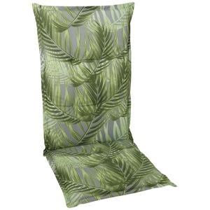 GO-DE Garten-Sesselauflage Hochlehner in grün mit Motiv Palmen
