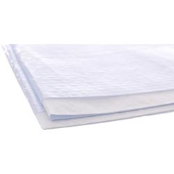 UNISAN Protect Nässeschutzserviette, 1-lagig, weiß, 38x40 cm im PE Beutel Z-Falz gefaltet, 1 Karton = 10 x 100 = 1.000 Stück