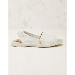 Softinos Damen Leder-Sandalen Faline weiß